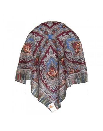 batic-esarfa-sal-din-lana-89x89cm-original-pavlovo-posad-rusia-model-alenkiy-tsvetochek-multicolor-pe-fundal-rosu-visiniu