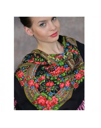 685-18-batic-din-lana-89x89cm-original-pavlovo-posad-rusia-model-floral-vecherok-multicolor-pe-fundal-negru