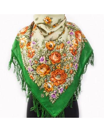 batic-esarfa-sal-din-lana-89x89cm-original-pavlovo-posad-rusia-model-yuzhanka-multicolor-pe-fundal-verde