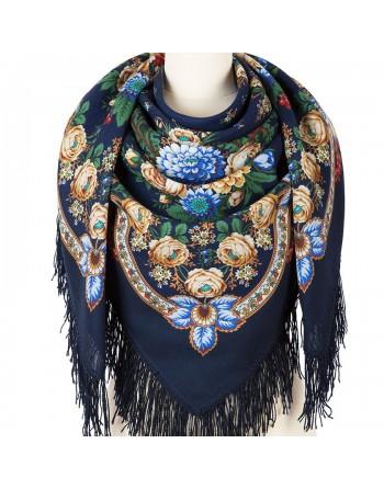1194-14-sal-din-lana-125x125cm-original-pavlovo-posad-rusia-model-chernyye-glaza-multicolor-pe-fundal-albastru