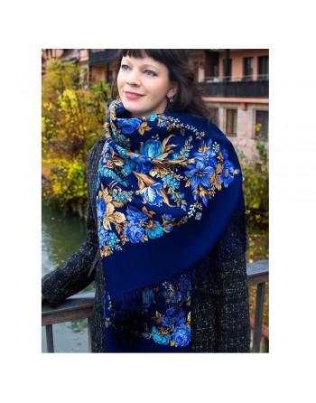 782-14-sal-din-lana-146x146cm-original-pavlovo-posad-rusia-model-floral-dushechka-pe-fundal-albastru