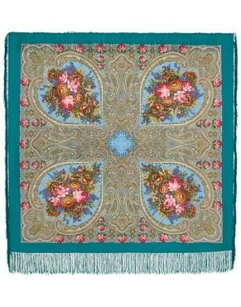 1471-11-sal-esarfa-batic-din-lana-125x125cm-original-pavlovo-posad-rusia-model-floral-osenniye-kruzheva-pe-fundal-albastru-marin