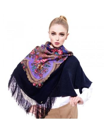 sal-esarfa-batic-din-lana-125x125cm-original-pavlovo-posad-rusia-model-floral-dushevnyy-razgovor-multicolor-pe-fundal-albastru