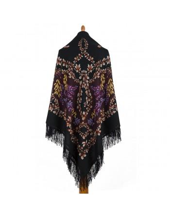 352-19-sal-esarfa-batic-din-lana-146x146cm-original-pavlovo-posad-rusia-model-ryabina-multicolor-pe-fundal-negru
