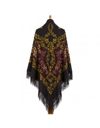 352-20-sal-esarfa-batic-din-lana-146x146cm-original-pavlovo-posad-rusia-model-ryabina-multicolor-pe-fundal-negru