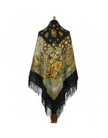 538-19-sal-esarfa-batic-din-lana-146x146cm-original-pavlovo-posad-rusia-model-barhatnaya-noch-pe-fundal-negru