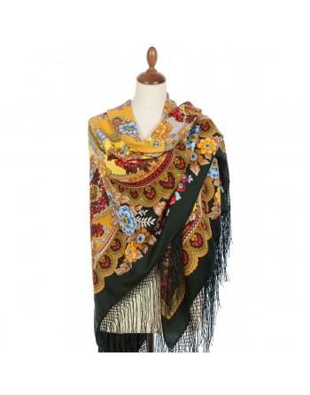 708-10-sal-esarfa-batic-din-lana-148x148cm-rusesc-original-pavlovo-posad-model-floral-oseni-multicolor-pe-fundal-negru