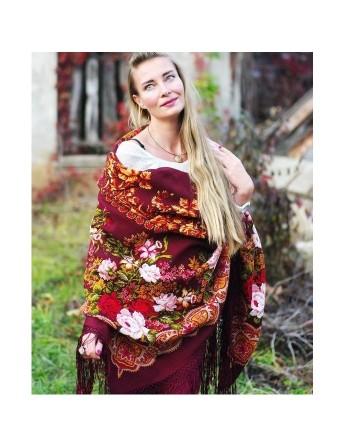 373-7-sal-esarfa-batic-din-lana-148x148cm-original-pavlovo-posad-rusia-model-floral-belyye-rozy-pe-fundal-rosu-visiniu