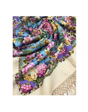 1816-2-sal-din-lana-148x148cm-original-pavlovo-posad-rusia-model-floral-pavloposadskiy-multicolor-pe-fundal-crem