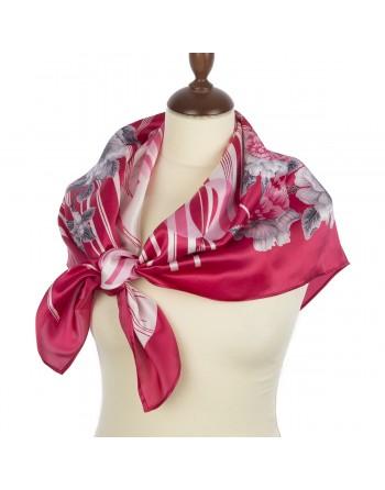 1588-5-esarfa-din-matase-naturala-89x89cm-originala-pavlovo-posad-rusia-model-floral-priteazheniye-lyubvi-pe-fundal-rosu
