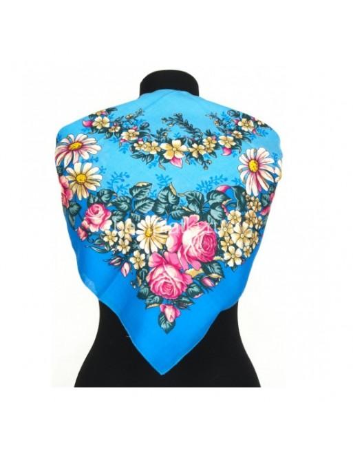 1673-13-batic-esarfa-basma-lana-72x72cm-pavlovo-posad-rusia-model-floral-tanets-fey-multicolor-pe-fundal-albastru