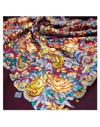 511-7-sal-esarfa-basma-batic-lana-125x125cm-original-pavlovo-posad-rusia-model-floral-utomlyonnoye-solntse-fundal-rosu-grena