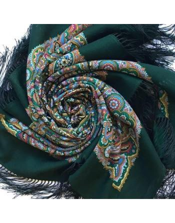 1836-9-batic-esarfa-sal-din-lana-89x89cm-original-pavlovo-posad-rusia-model-gorozhanka-multicolor-pe-fundal-verde