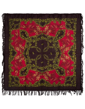 352-7-sal-esarfa-batic-din-lana-146x146cm-original-pavlovo-posad-rusia-model-ryabina-multicolor-pe-fundal-negru
