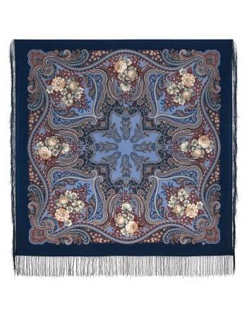 1897-14-sal-din-lana-125x125cm-original-pavlovo-posad-rusia-imprimeu-kostry-oseni-pe-fundal-albastru