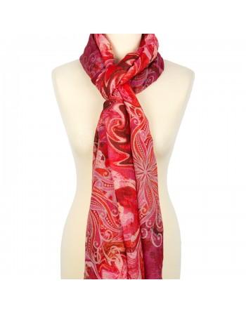 10452-5-esarfa-din-lana-230x80cm-originala-pavlovo-posad-rusia-imprimeu-floral-pe-fundal-rosu