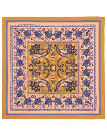 10785-16-batic-din-bumbac-70x70cm-original-pavlovo-posad-rusia-imprimeu-floral-pe-fundal-maro