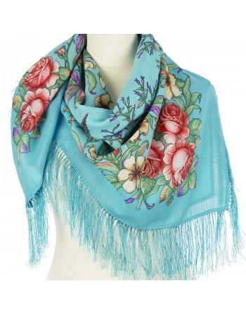 1604-11-batic-din-lana-89x89cm-original-pavlovo-posad-rusia-model-vesenneye-puteshestviye-multicolor-pe-fundal-albastru