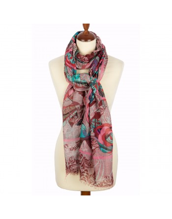 10246-3-esarfa-din-lana-230x80cm-originala-pavlovo-posad-rusia-model-floral-multicolor-pe-fundal-roz