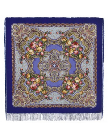 1537-14-sal-din-lana-146x146cm-original-pavlovo-posad-rusia-model-floral-lyubvi-jelannaya-pora-pe-fundal-albastru-