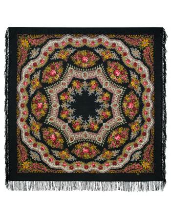 351-19-sal-din-lana-146x146cm-original-pavlovo-posad-rusia-model-braslet-multicolor-pe-fundal-negru