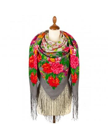 1210-3-sal-din-lana-148x148cm-rusesc-original-pavlovo-posad-imprimeu-floral-tsvetushchiy-sad-multicolor-pe-fundal-gri