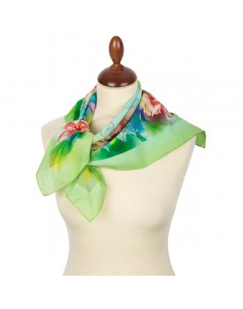 10355-10-batic-din-bumbac-70x70cm-original-pavlovo-posad-rusia-model-floral-pe-fundal-verde