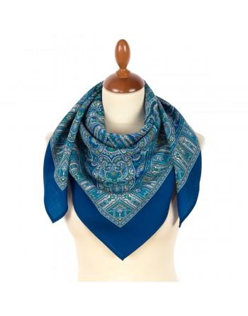 1948-14-batic-din-lana-89x89cm-original-pavlovo-posad-rusia-model-zvonky-rucheyek-multicolor-pe-fundal-albastru