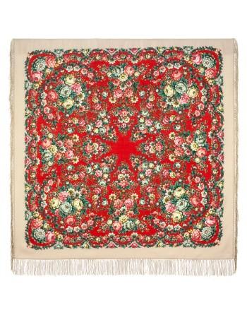 1953-5-sal-din-lana-146x146cm-original-pavlovo-posad-rusia-model-floral-pava-pe-fundal-rosu