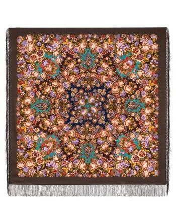 1951-16-sal-din-lana-146x146cm-original-pavlovo-posad-rusia-model-floral-kogda-poyet-serdtse-pe-fundal-maro