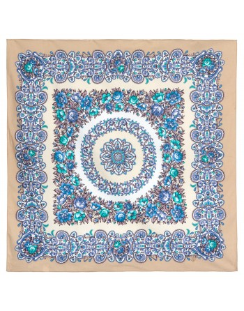 1745-2-batic-din-bumbac-80x80cm-original-pavlovo-posad-rusia-model-floral-utro-ranneye-pe-fundal-crem