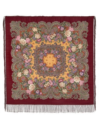 982-6-sal-din-lana-125x125cm-original-pavlovo-posad-rusia-model-floral-bal-maskarad-pe-fundal-rosu-visiniu