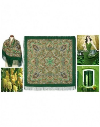 sal-esarfa-batic-din-lana-146x146cm-original-pavlovo-posad-rusia-model-koroleva-krasoty-multicolor-pe-fundal-verde