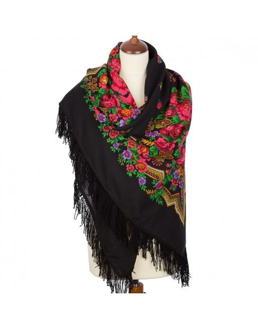 sal-esarfa-batic-din-lana-146x146cm-original-pavlovo-posad-rusia-model-russkaya-krasavitsa-multicolor-pe-fundal-negru