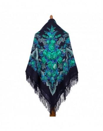 325-14-sal-din-lana-146x146cm-original-pavlovo-posad-rusia-model-russkaya-krasavitsa-multicolor-pe-fundal-albastru-inchis