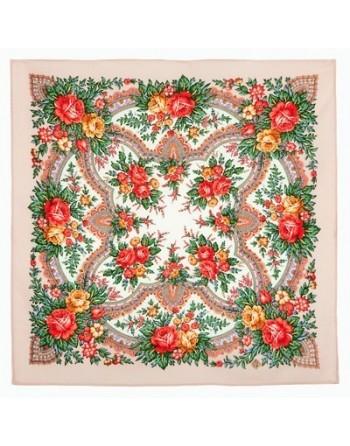 batic-esarfa-basma-sal-din-lana-72x72cm-original-pavlovo-posad-rusia-model-floral-vspleski-radosti-pe-fundal-bej