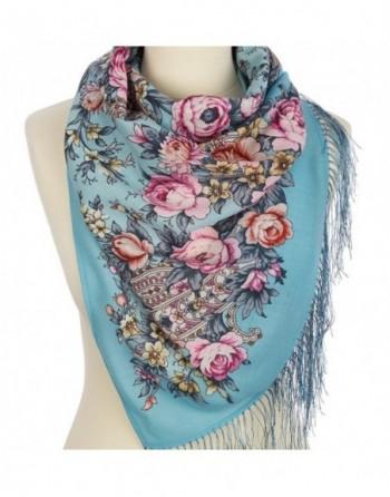 esarfa-sal-din-lana-150x60cm-originala-pavlovo-posad-rusia-model-tsvetochnyy-roman-multicolor-pe-fundal-albastru