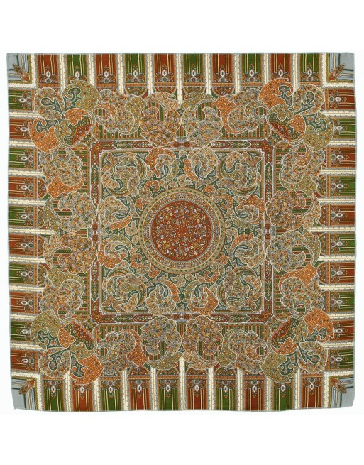 batic-esarfa-sal-din-lana-89x89cm-original-pavlovo-posad-rusia-model-den-rozhdenya-multicolor-pe-fundal-verde