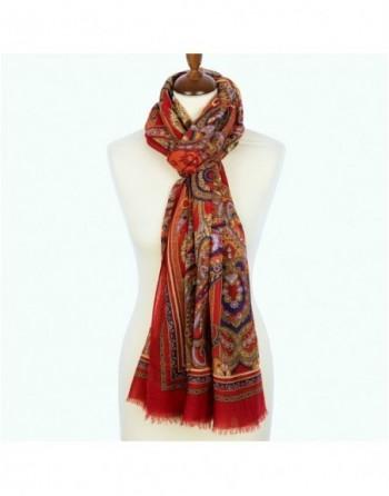 1663-5-esarfa-sal-din-lana-230x80cm-originala-pavlovo-posad-rusia-model-znatnaya-dama-multicolor-pe-fundal-rosu
