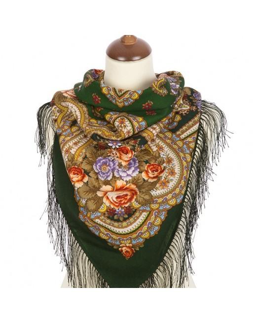 batic-esarfa-sal-din-lana-89x89cm-original-pavlovo-posad-rusia-model-na-krylyah-pamyati-multicolor-pe-fundal-verde