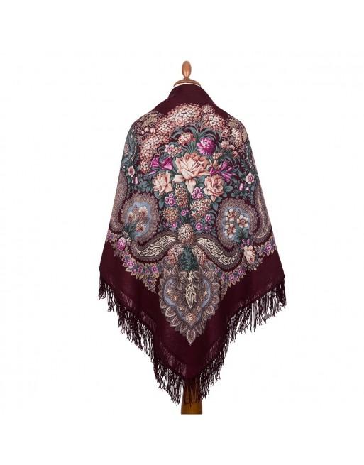 sal-esarfa-batic-lana-146x146cm-original-pavlovo-posad-rusia-model-nad-serebryanoy-vodoy-multicolor-fundal-rosu-grena