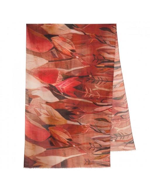 esarfa-sal-din-lana-230x80cm-originala-pavlovo-posad-rusia-model-multicolor-pe-fundal-rosu-caramiziu