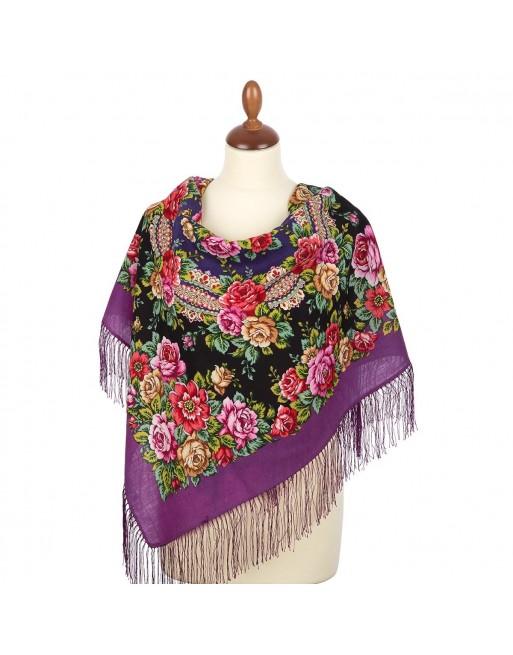 batic-esarfa-sal-din-lana-89x89cm-original-pavlovo-posad-rusia-model-floral-gorod-roz-multicolor-pe-fundal-mov