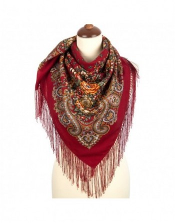 1830-5-batic-din-lana-89x89cm-original-pavlovo-posad-rusia-model-floral-dushistyy-lug-multicolor-pe-fundal-rosu
