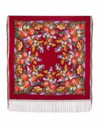 sal-esarfa-batic-din-lana-148x148cm-rusesc-original-pavlovo-posad-model-den-pobedy-multicolor-pe-fundal-rosu