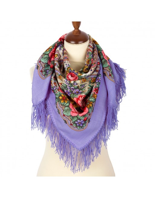 batic-esarfa-sal-din-lana-89x89cm-original-pavlovo-posad-rusia-model-vesenniye-zori-multicolor-pe-fundal-mov-lila