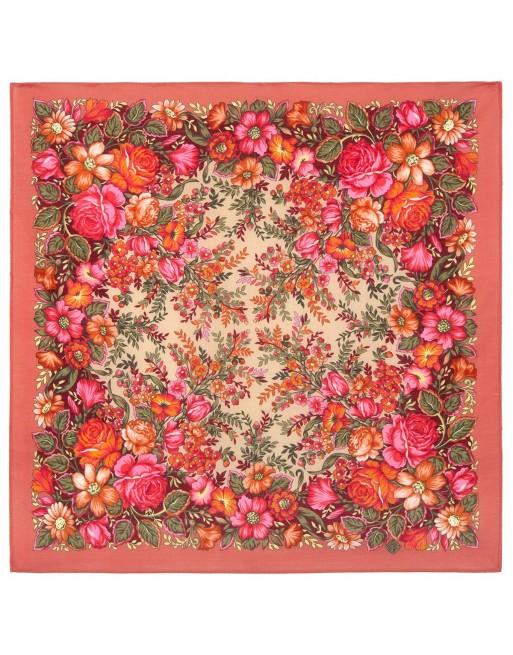 1821-4-batic-esarfa-basma-sal-din-lana-72x72cm-original-pavlovo-posad-rusia-model-floral-zavetnaya-mechta-pe-fundal-corai