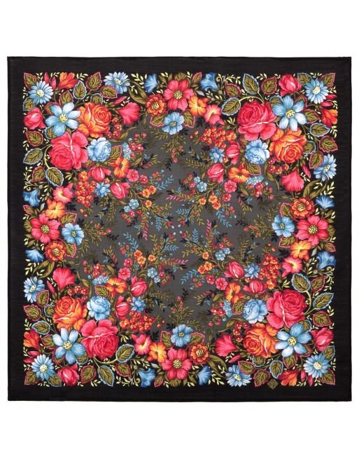 batic-esarfa-basma-sal-lana-72x72cm-original-pavlovo-posad-rusia-model-floral-zavetnaya-mechta-pe-fundal-negru