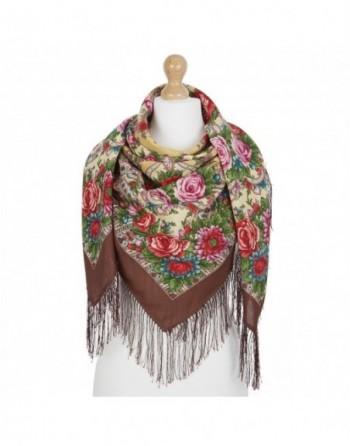 sal-esarfa-basma-batic-lana-125x125cm-original-pavlovo-posad-rusia-model-floral-karmelita-multicolor-pe-fundal-maro