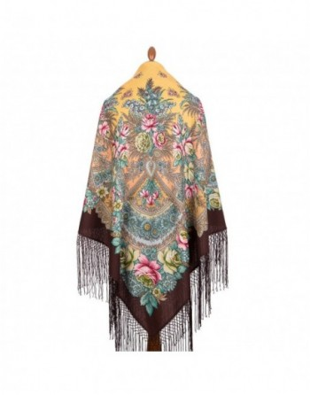 sal-esarfa-batic-din-lana-148x148cm-rusesc-original-pavlovo-posad-model-yunskoye-utro-multicolor-pe-fundal-maro